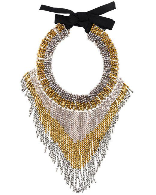 Night Market | Женское Серебристый Fringed Bead Necklace