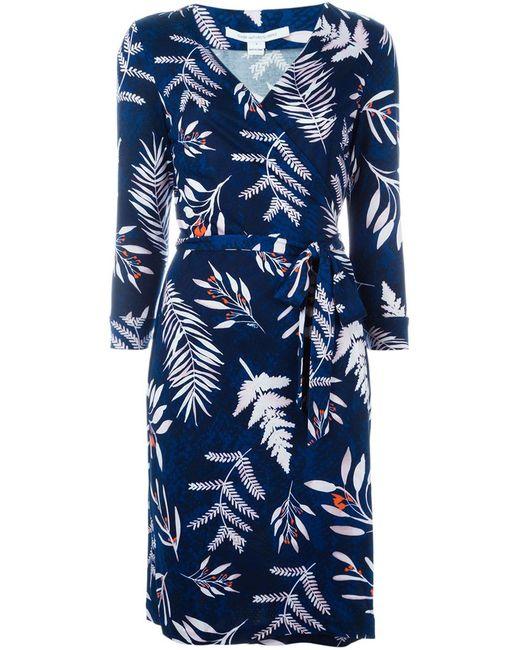 Diane Von Furstenberg | Женское Синее Платье New Julian Two