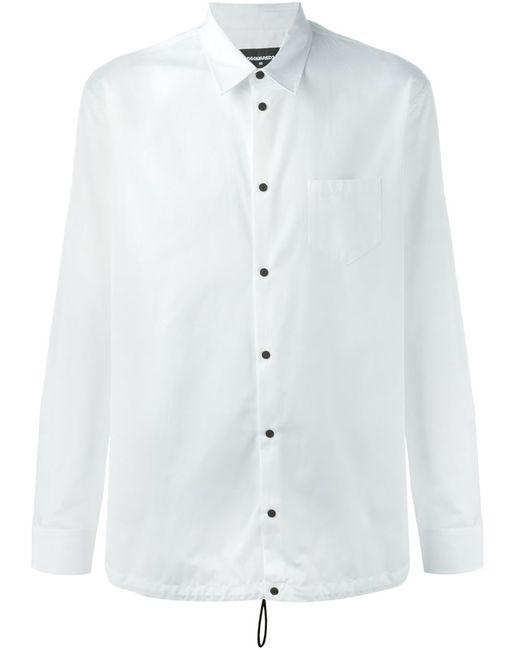 Dsquared2 | Мужская Белая Рубашка С Эластичным Подолом