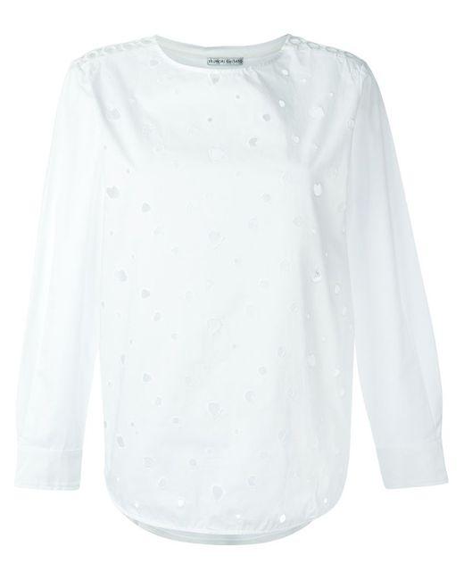 Tsumori Chisato | Женская Белая Блузка С Рваными Деталями