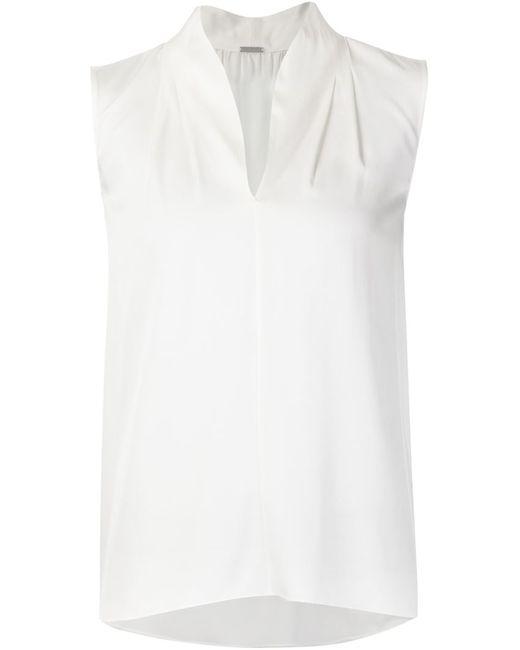 Elie Tahari   Женская Белая Блузка Без Рукавов