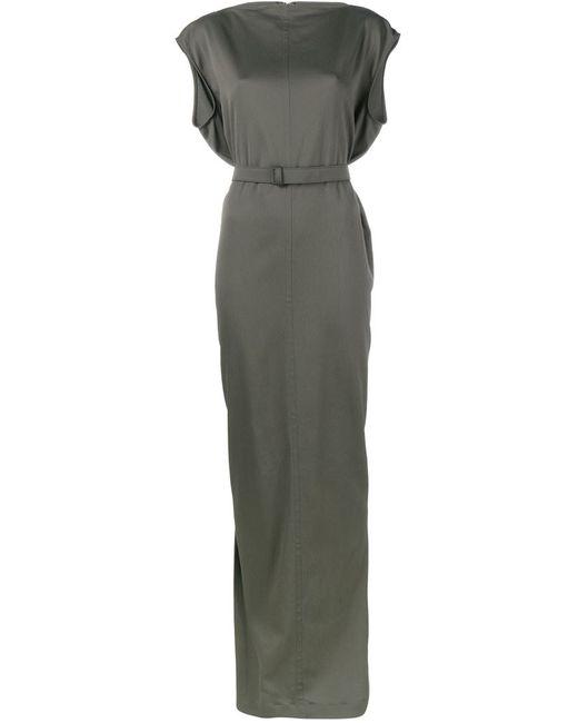 Rick Owens | Женское Зелёный Long Belted Dress