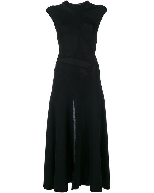 ESTEBAN CORTAZAR | Женское Чёрное Платье Миди С Вырезными Деталями