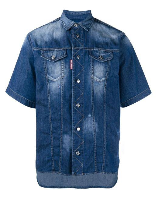 Dsquared2 | Мужское Синий Short Sleeved Denim Shirt