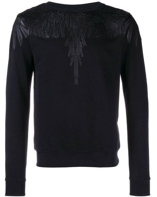 MARCELO BURLON COUNTY OF MILAN | Мужское Чёрный Leather Trimmed Sweatshirt
