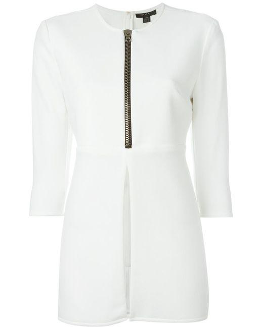 Ellery | Женская Белая Удлиненная Блузка На Молнии