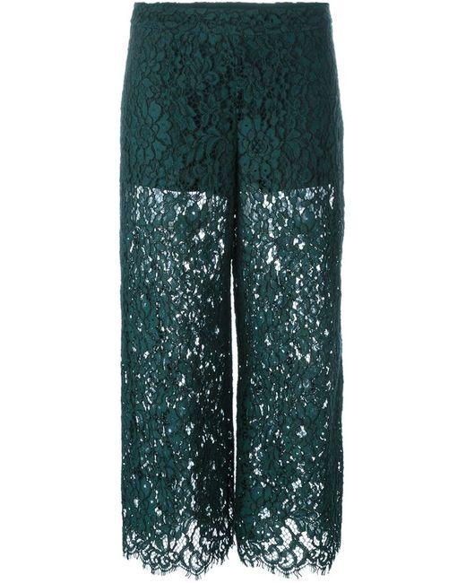 Twin-Set Jeans   Женские Зелёные Кружевные Брюки