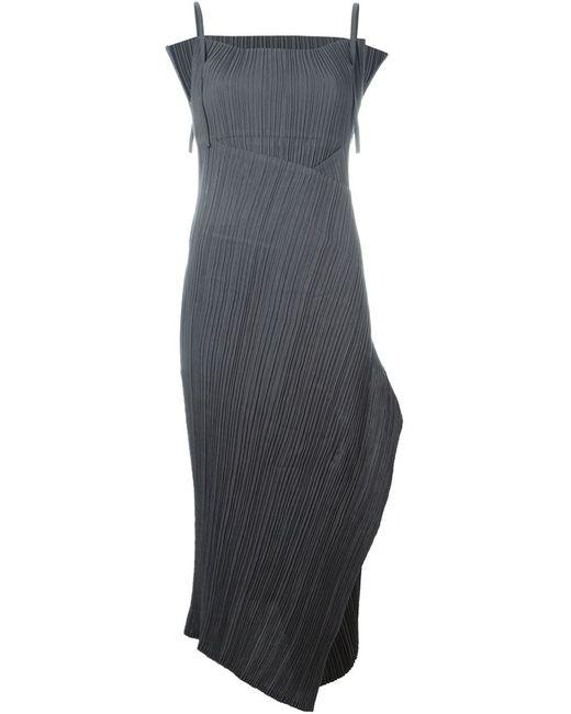 ISSEY MIYAKE VINTAGE | Женское Серое Плиссированное Платье