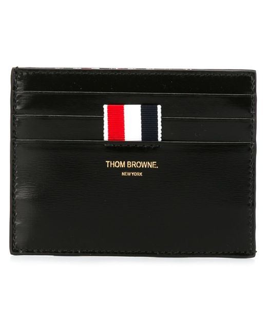 Thom Browne   Мужская Чёрная Классическая Визитница