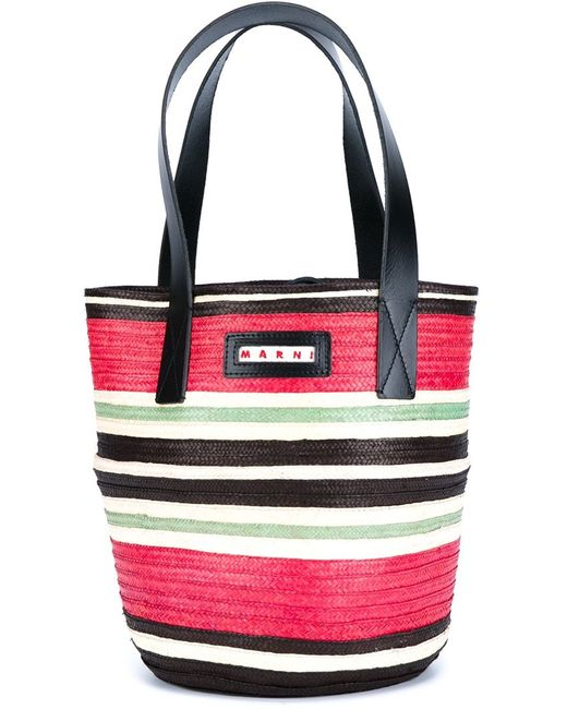 Marni | Женское Розовый Striped Tote
