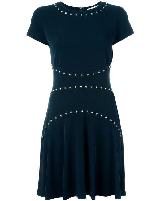 Michael Michael Kors | Женское Синее Платье С Короткими Рукавами