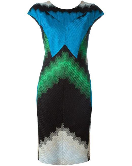 Missoni | Женское Многоцветное Платье С Рукавами-Кап