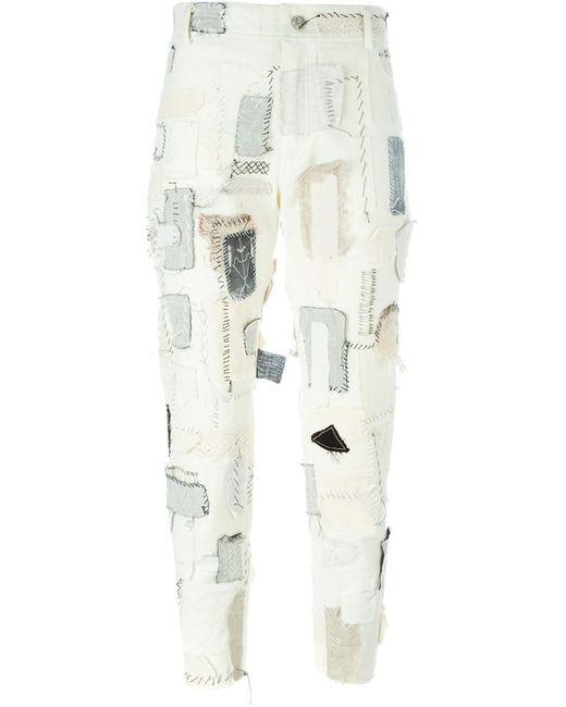Heikki Salonen | Женские Белые Лоскутные Джинсы Кроя Скинни