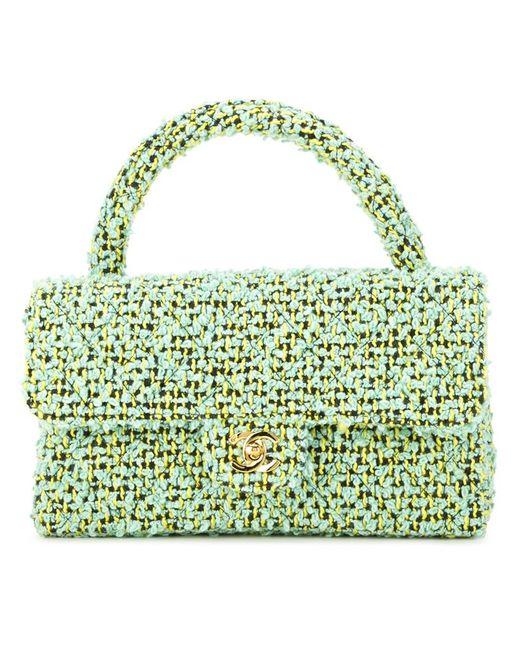 Chanel Vintage | Женская Зелёная Твидовая Сумка