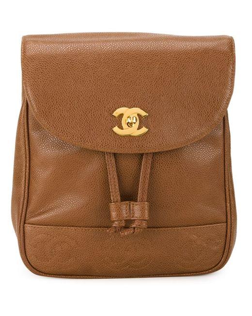 Chanel Vintage | Женский Коричневый Классический Рюкзак
