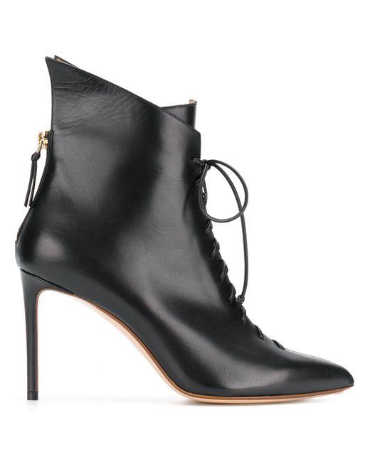 FRANCESCO RUSSO | Чёрный Lace Up Boots Women