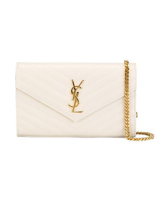 Saint Laurent | Женское Белый Classic Monogram Shoulder Bag