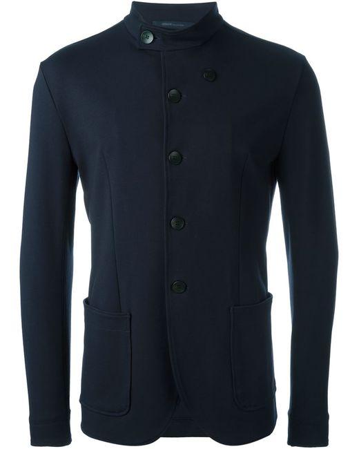Armani Collezioni | Мужское Синий Band Collar Jacket
