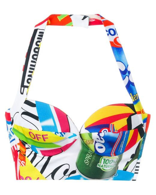 Moschino   Женское Белый Logo Print Bustier Top