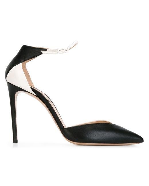 Casadei | Женские Чёрные Двухцветные Туфли