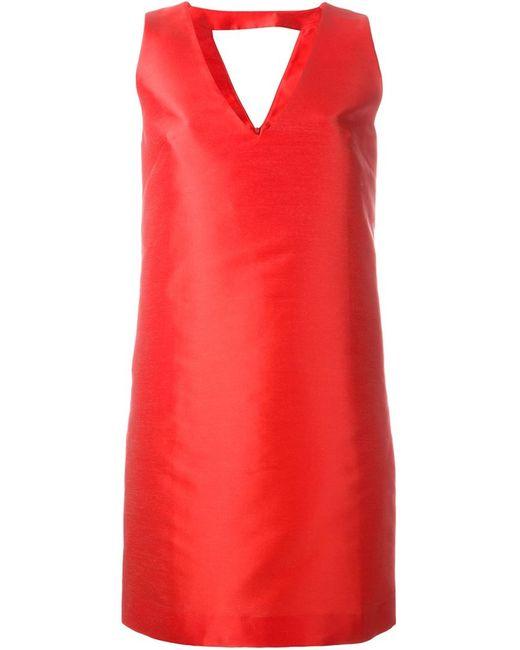 P.A.R.O.S.H. | Женское Красное Платье Шифт Pulp