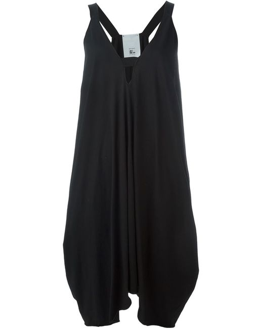 LOST AND FOUND ROOMS   Женское Чёрное Асимметричное Платье C V-Образным Вырезом