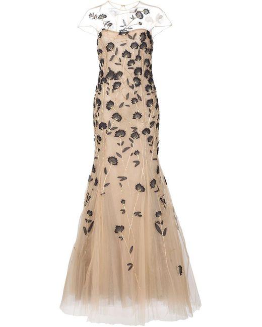 Carolina Herrera | Женское Nude & Neutrals Вечернее Платье С Вышивкой