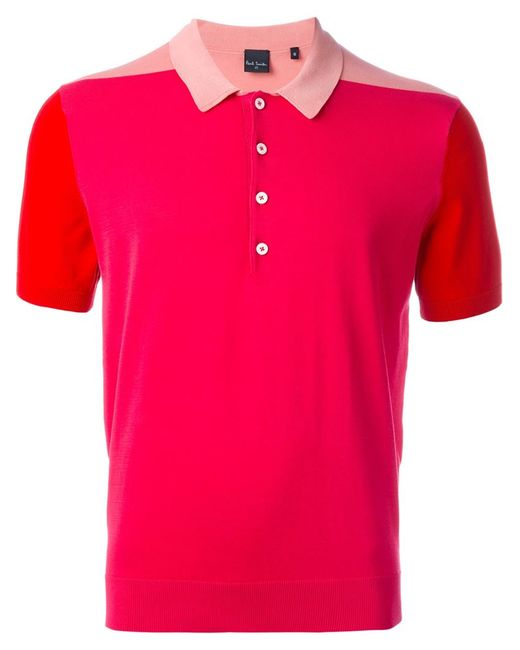 PS PAUL SMITH | Мужское Розовый Colour Block Polo Shirt