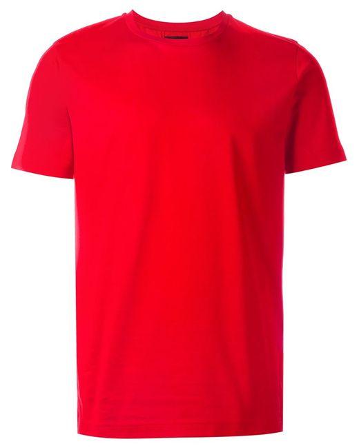Les Hommes   Мужская Красная Футболка С Круглым Вырезом