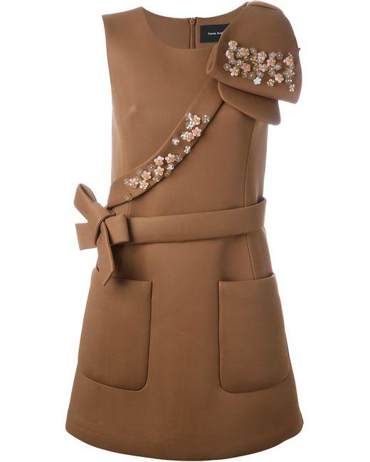 Simone Rocha   Женское Коричневое Декорированное Платье
