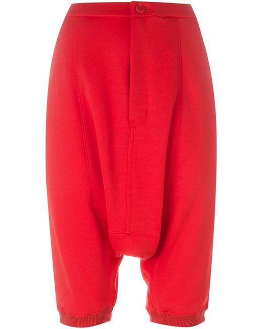 Y-3   Женское Красный Drop-Crotch Track Shorts