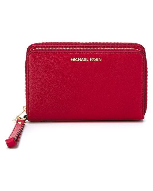 Michael Michael Kors | Женский Красный Кошелек С Логотипом