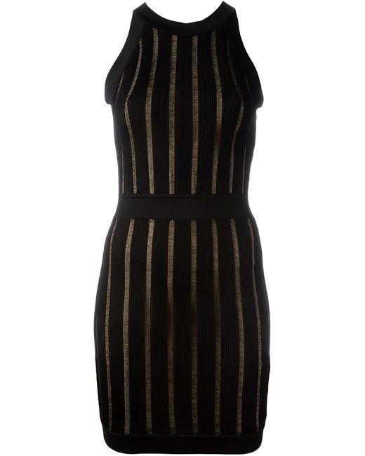 Balmain | Женское Чёрный Ribbed Sleeveless Dress