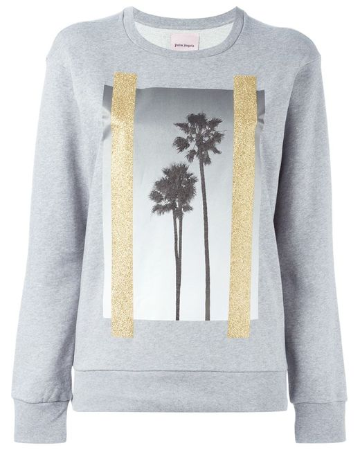PALM ANGELS | Женское Серый Palm Tree Print Sweatshirt