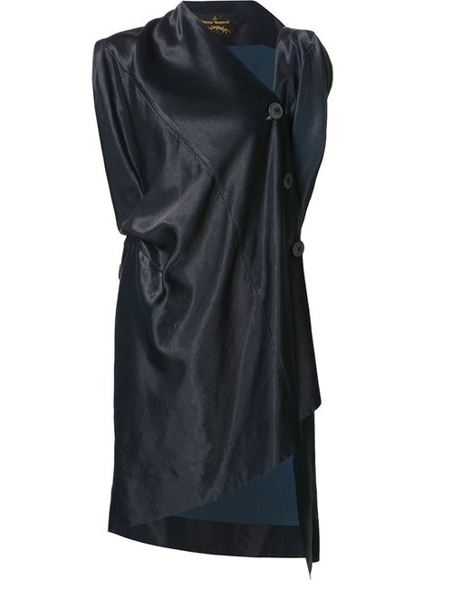 Vivienne Westwood Anglomania   Женское Синее Драпированное Асимметричное Платье