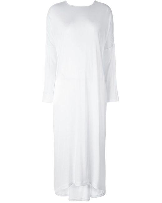 Unconditional | Женское Белое Свободное Трикотажное Платье