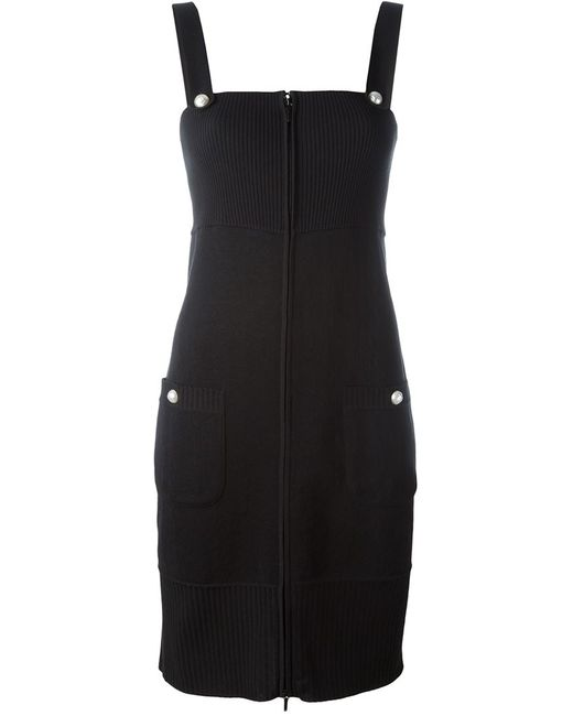 Chanel Vintage | Женское Чёрное Приталенное Трикотажное Платье