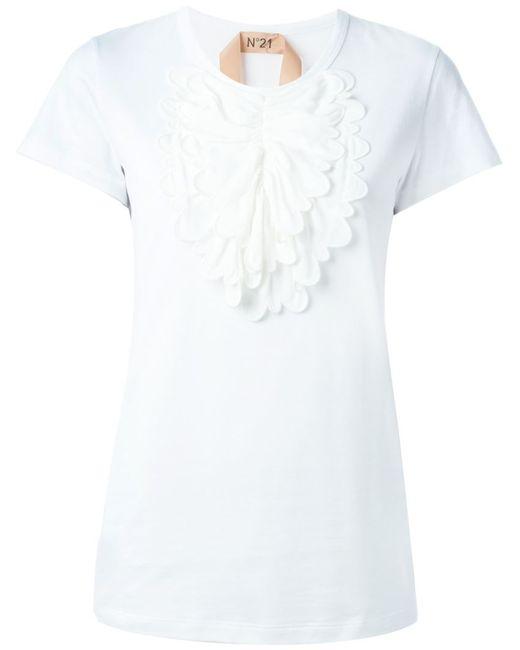 No21 | Женская Белая Рубашка С Нагрудником