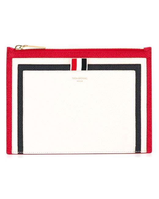 Thom Browne   Женское Белый Panelled Pouch