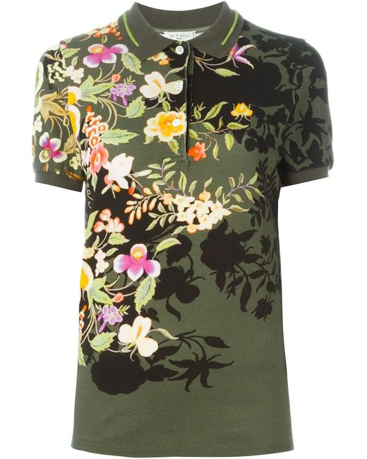 Etro | Женское Зелёный Print Polo Shirt