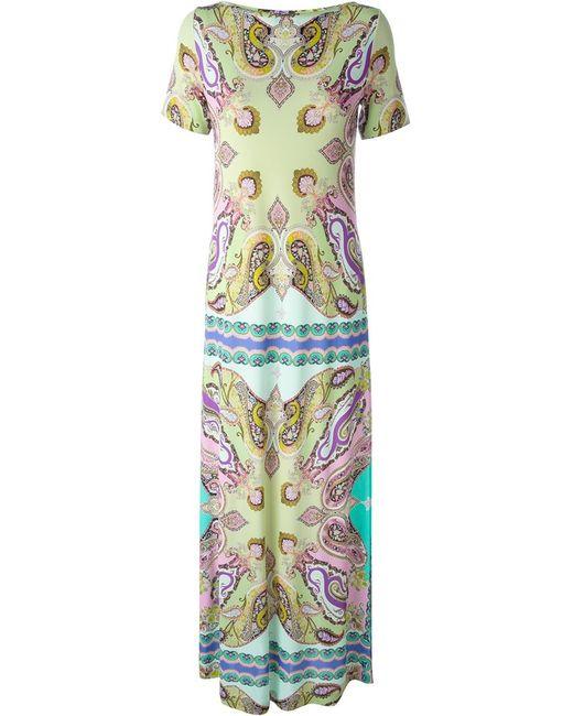 Etro   Женское Длинное Платье С Принтом Пейсли
