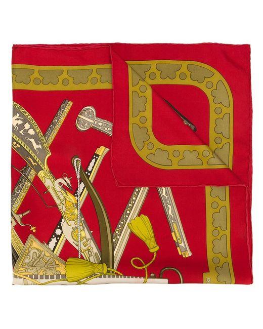 Hermès Vintage   Женский Красный Платок Diane