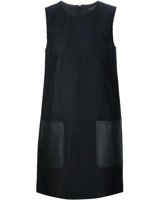 Rag & Bone | Женское Чёрное Стеганое Платье-Шифт