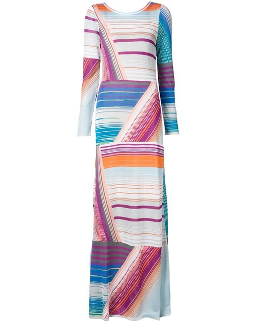 Missoni | Женское Белый Printed Stripe Maxi Dress