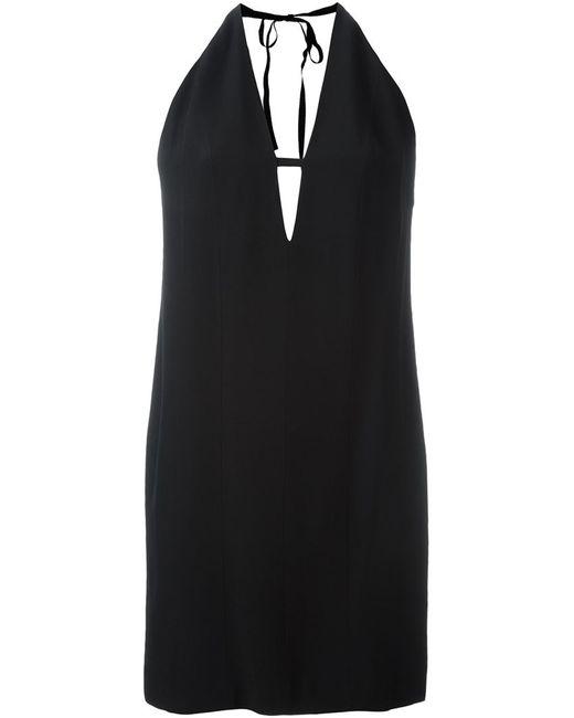 Dondup | Женское Чёрное Платье Chryssa C V-Образным Вырезом