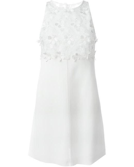 GIAMBA   Женское Белое Платье С Цветочным Кружевом