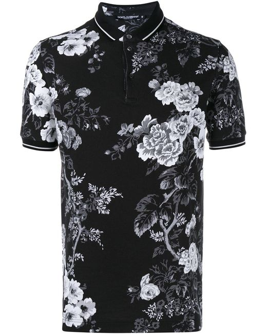 Dolce & Gabbana   Мужское Чёрный Print Polo Shirt
