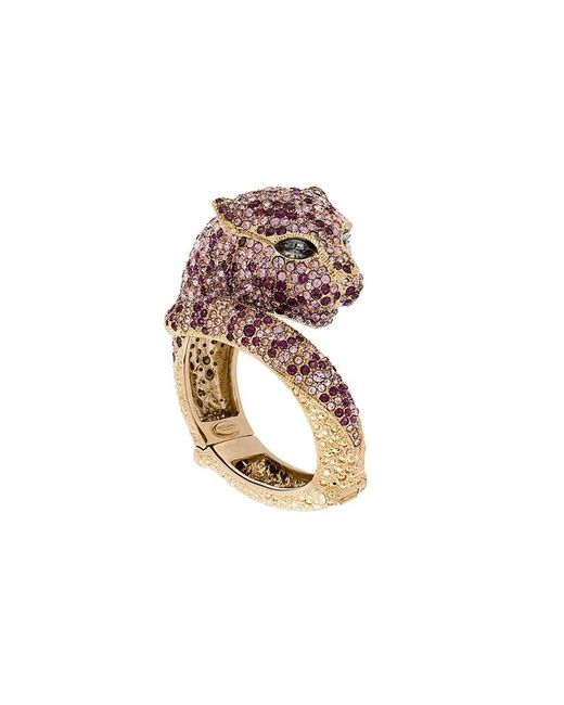 Roberto Cavalli | Женское Серебристый Crystal Panther Bracelet