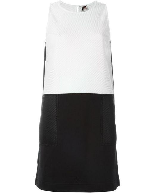 I'm Isola Marras | Женское Чёрное Платье-Шифт В Стиле Колор-Блок
