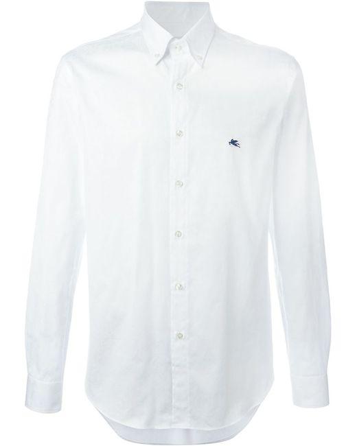 Etro   Мужская Белая Рубашка На Пуговицах